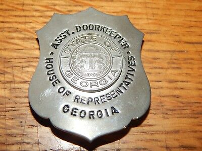 Vintage Georgia House Of Representatives Asst. Doorkeeper Badge Hallmarked