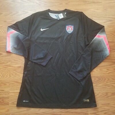 03208d6327c Nike USA Soccer Goalie Jersey Long Sleeve Black Pink Men s Size 2XL DriFit  A2-