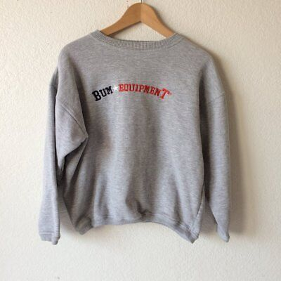 Vintage 90s B.U.M. Equipment Gray Heather Pullover Fleece Oversized Sweatshirt M