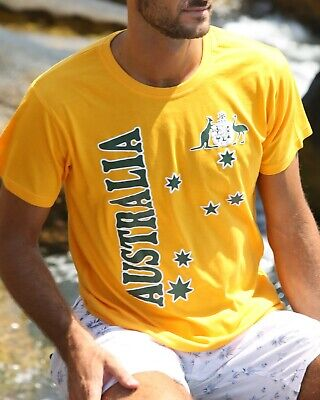 Unisex Adult Australia Day Rugby  Souvenir T-Shirt Short Sleeve Top Tee