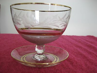1920's Crystal dessert bowls x6 hand made in Hungary