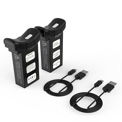 Holy Stone 2 pcs 2500mAh Rechargeable Battery & USB Cables f. HS100 GPS RC Drone