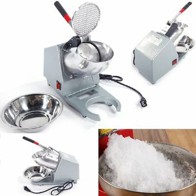 Electric Ice Shaver Machine Snow Cone Maker Crusher Shaving Cold Drink 200W 60Hz