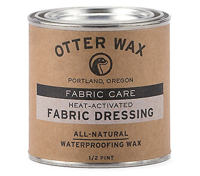 Otter Wax Heat-Activated Fabric Dressing | 1/2 Pint | All-Natural Water Repellen
