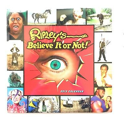 Ripley's Believe It Or Not 2013 - Rare Large Wall Calender - Brand New Sealed
