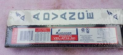 Brand New SEALED Boxes. VEL4P32SC Advance Ballast for (4) F32T8 tubes 277 volts