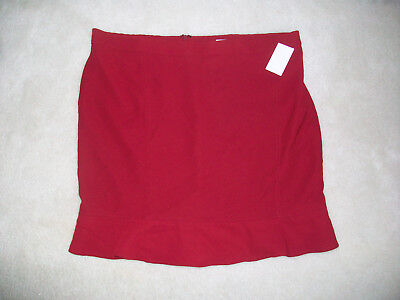 NWT Mimi Maternity Gorgeous Maternity Red Skirt L Large New $78