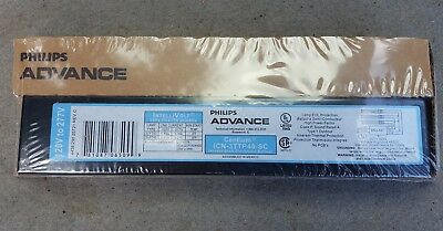 Brand New SEALED Boxes. ICN-3TTP40-SC Advance Ballast 120-277 volt (2 or 3) FT40