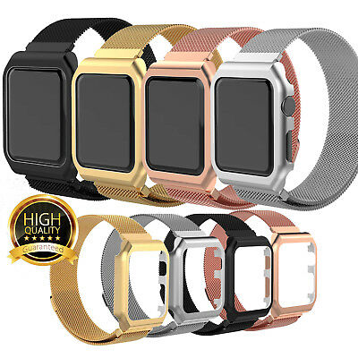 For Apple Watch Series 4/3/2/1 Milanese Stainless Steel iWatch Band Strap 42/38