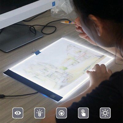 A4 LED Writing Painting Light Box Tracing Board Drawing Digital Artcraft Pads P