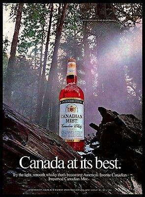 1974 Canadian Mist Whisky Vintage PRINT AD Drink Vancouver Island Nature 1970s