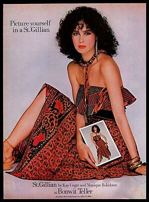 1982 St.Gillian by Kay Unger Monique Robidoux Designer Fashion Vintage PRINT AD