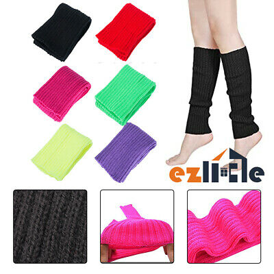 Leg Warmers Womens Dance Crochet Knit Winter Legging Socks Disco Party Costume