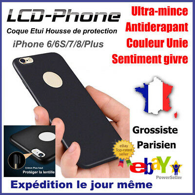 Anti choc Coque Protection Housse Silicone Mat Case Cover iPhone 6 6s 7 8 Plus