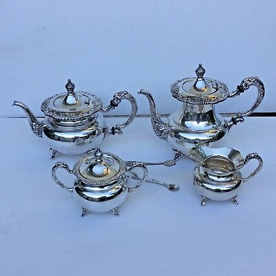 Antique Solid 925 sterling silver tea and coffee set 5 piece