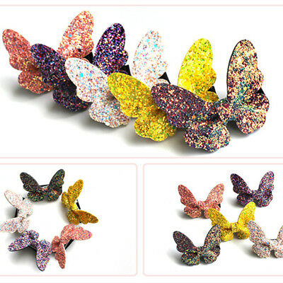 Cute Glitter Bows Hairpin Butterfly Baby Hair Clips Girls Hair Accessories Gifts