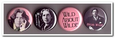 OSCAR WILDE Buttons Pins badges 4 dorian gray british playwright poetry