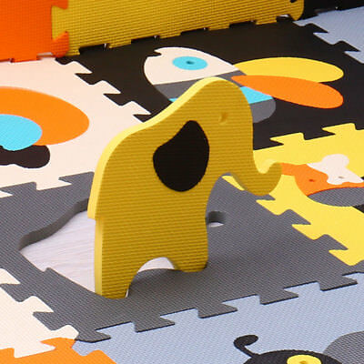 Baby child puzzle carpet rug crawling mat kid toy little bee friendly animals