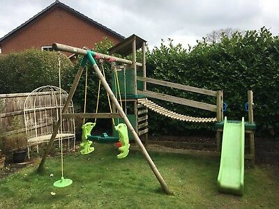 Wooden Garden Playhouse Climbing Frame Slide And Swing Set Collect Solihull
