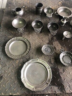 antique pewter plates and dishes & ANTIQUE PEWTER PLATES and dishes - £31.00 | PicClick UK