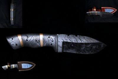 Damascus Collectable Full Tang Skinning or GP Knife Damascus Handel & Blade!