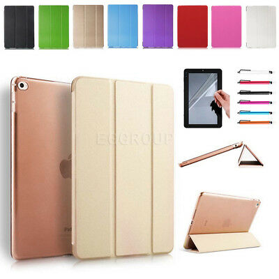 """For Apple iPad 6th 9.7"""" 2018 A1893 A1954 Smart Slim PU Leather Case Cover +Film"""
