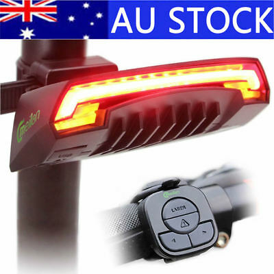 Bicycle Bike Signal LED Rear Tail Light Lamp Wireless Remote USB Rechargeable