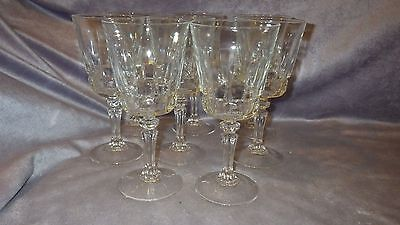 Clear Crystal Water WIne Glasses Goblets Cristal D'Arques of France 8 8oz stems