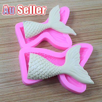 3D Mermaid Tail S L Mold Scale Silicone Fondant Cake Mould Decor Sugar Chocolate