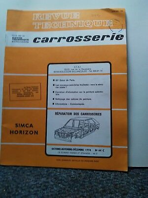 Revue technique automobile'caroserie ' Simca horizon
