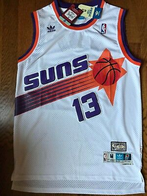 detailed look b273f eec7c NWT STEVE NASH #13 Vintage White Phoenix Suns Throwback Jersey S-XXL