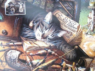"""Purr-fect Places~Charles Wysocki Cat Plate ~ """"Max in the Adirondacks """"  ~  NRFB"""