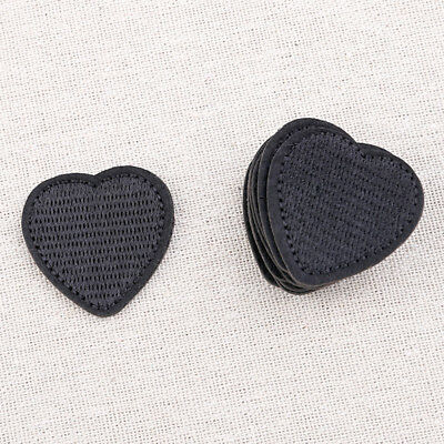 Black Heart Shaped Patches Embroidery Sewing Iron On DIY Crafts Decor 10 Pcs