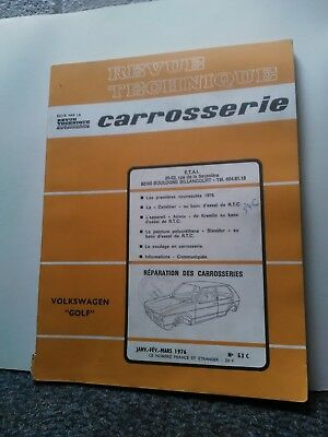 Revue technique automobile'caroserie '  VW golf 1