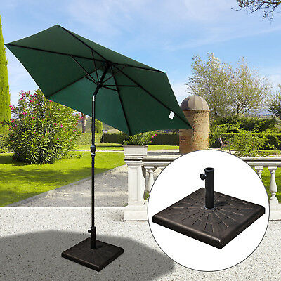 outsunny umbrella base parasol holder 30kg outdoor wheel marbel lawn Parasol Holder