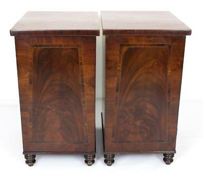 Pair of Antique Regency or William IV Bedside Cabinets - Cupboards Tables