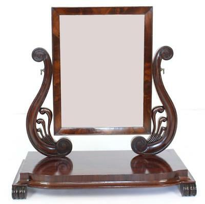 Antique Early 19thC Mahogany Dressing Table Swing Mirror - William IV/Regency