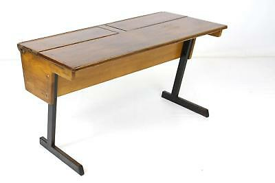 Vintage 1960's Esavian ESA Beech Double School Desk *1 of 3* Collect or Courier