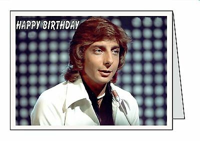 Homemade personalised birthday card barry manilow 295 barry manilow personalised birthday card all occasions aniversary bookmarktalkfo Image collections