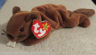 Ty Beanie Baby Bucky the Beaver 4th Generation Tag PVC Filled 1995