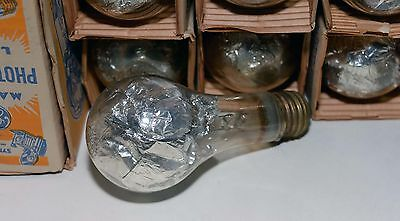 10 NOS #21 GE Mazda Synchro-Press Foil-Filled Flashbulbs Photoflash Lamps