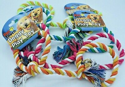 """Dog """"Tug Of War"""" Toy -  Thin Roped/Puppy/Play/Gift - Various Colours!"""