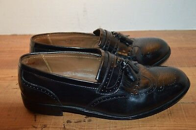 71d5416e4f6 MENS BOSTONIAN CROWN Windsor Black Leather Loafers Size 9 D ...