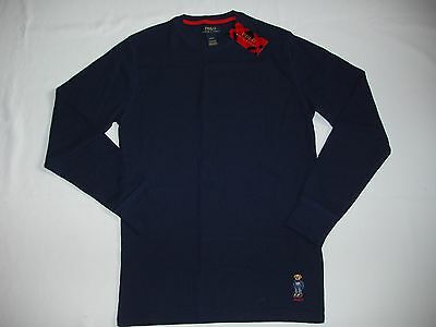 Polo Ralph Lauren Men's Polo Bear Crew Neck Waffle Thermal Pajama Shirt NEW