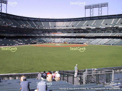 2 Brewers vs San Francisco Giants 7/29 Tickets 4th ROW BLEACHERS AT&T Park