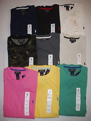 Polo Ralph Lauren Men's Long Sleeved Thermal Waffle Sleepshirt Top T Shirt NEW