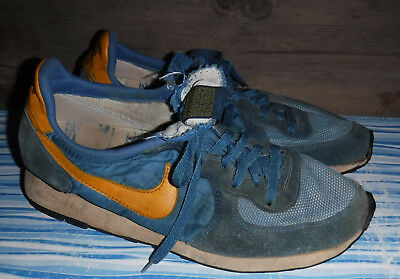 hot sale online 4e49e 08bba Vintage 1970s Nike Original Waffle Trainers Shoes Mens 10.5 Made In Usa  Lk