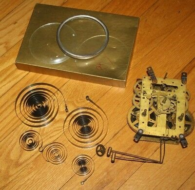 Antique Vintage Clock Main Springs replacement glass & other clock parts
