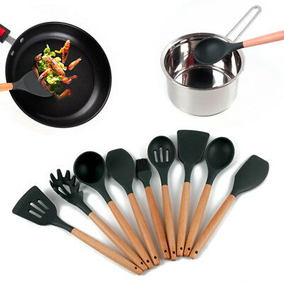 Silicone Non-Stick Kitchen Cooking Utensils Spatula Heat Resistant Baking Tools