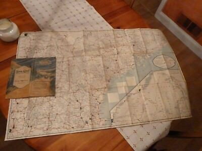 Vintage Nufold Guide Road Map Northern New England 1920s or 30s